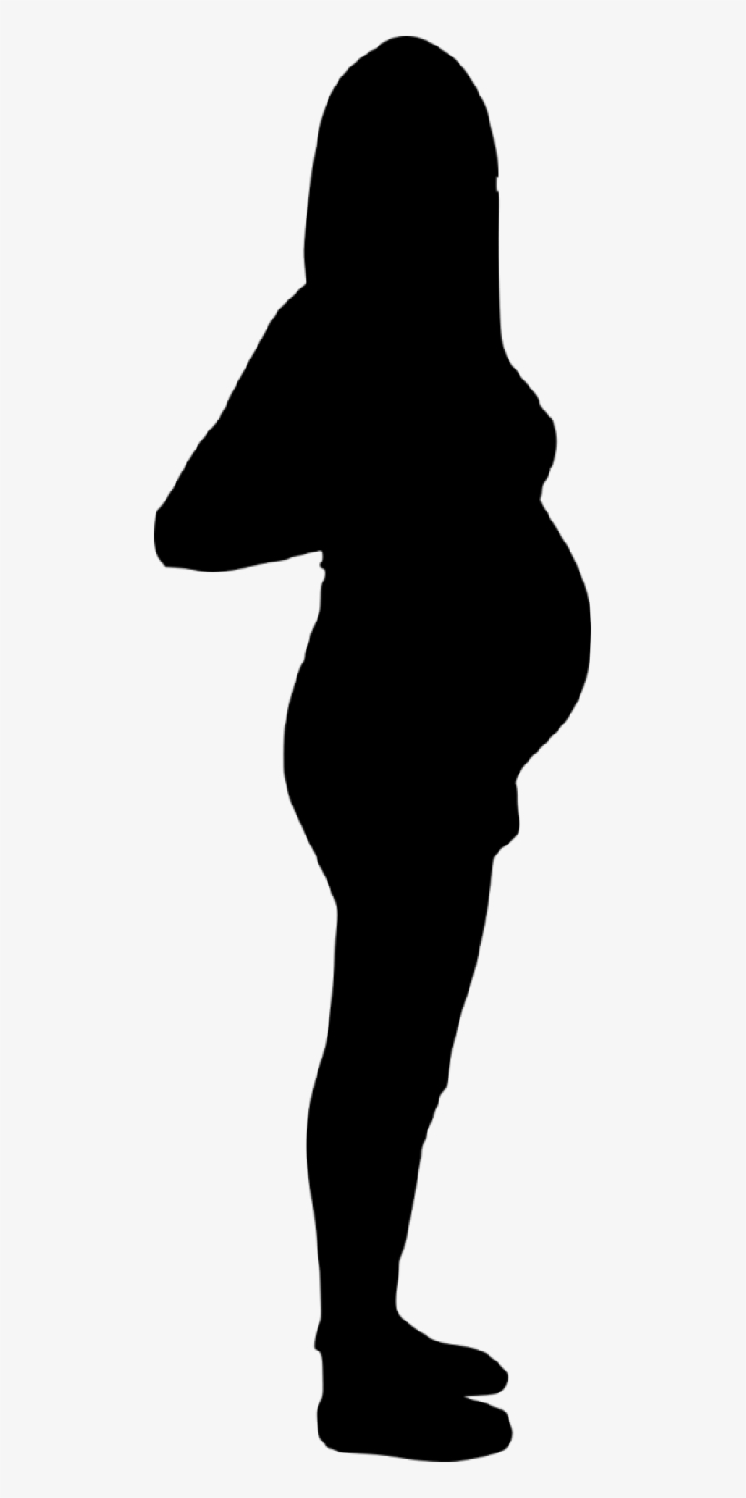 Free Png Pregnant Woman Silhouette Png Images Transparent - Pregnant Woman Silhouette Png, transparent png #539778