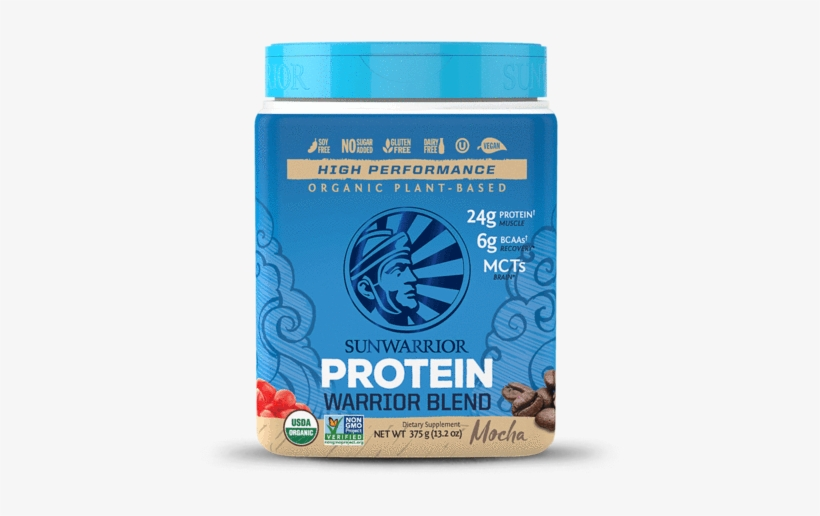 Sunwarrior Warrior Blend Mocha Vegan Protein Powder - Sunwarrior Protein Warrior Blend, transparent png #5308218