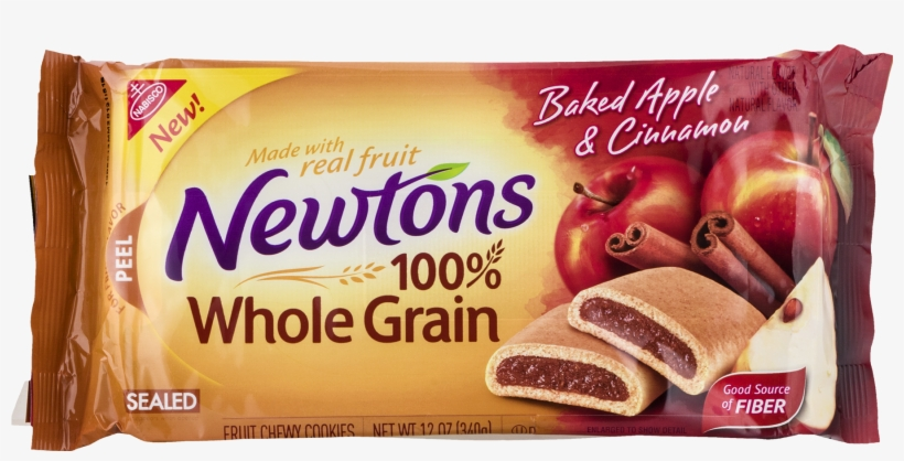 Nabisco Newtons 100% Whole Grain Baked Apple & Cinnamon - Nabisco Newtons Triple Berry Chewy Cookies, transparent png #5317714