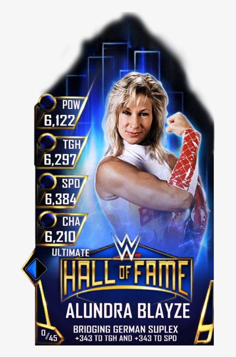 Supercard Alundrablayze S3 13 Ultimate Halloffame - Wwe Supercard Hall Of Fame Cards, transparent png #5321739