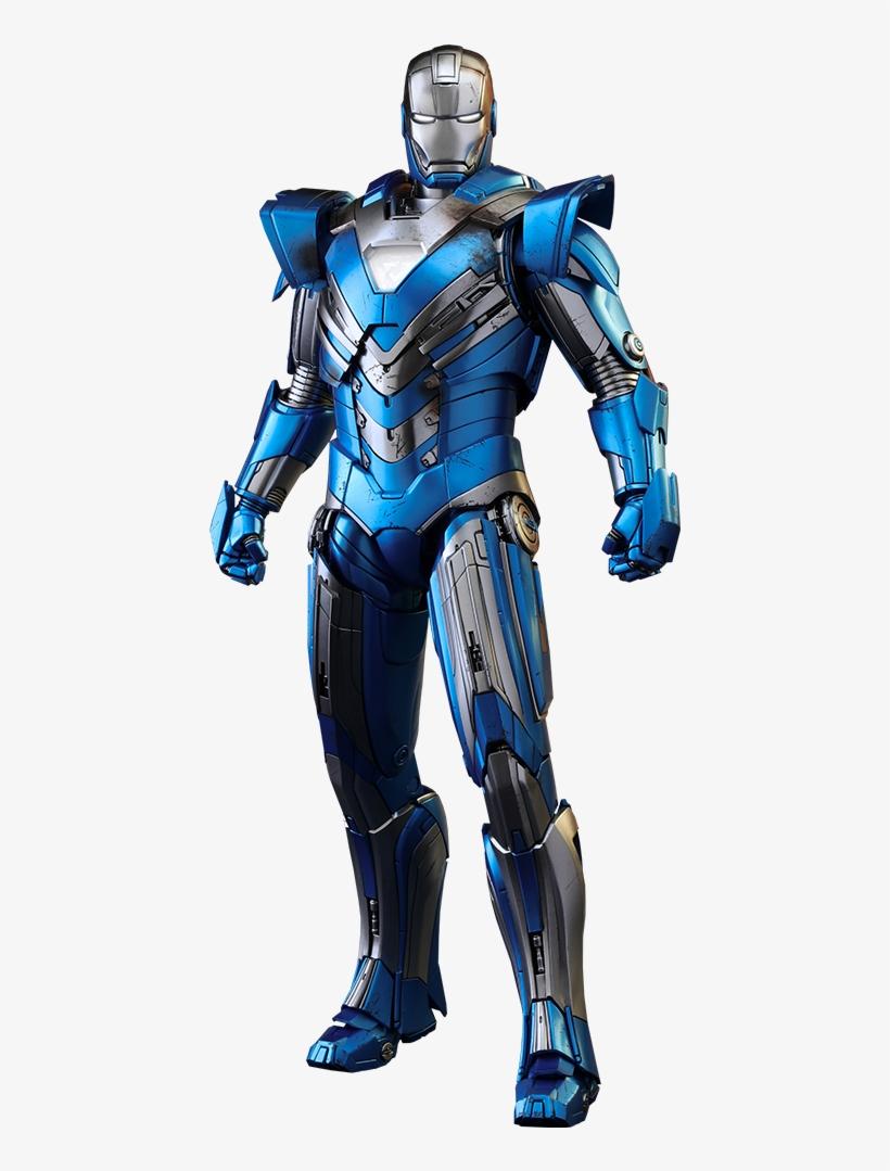 Iron Man Mark Xxx Blue Steel Action Figure - Mark Xxx Iron Man, transparent png #5325550