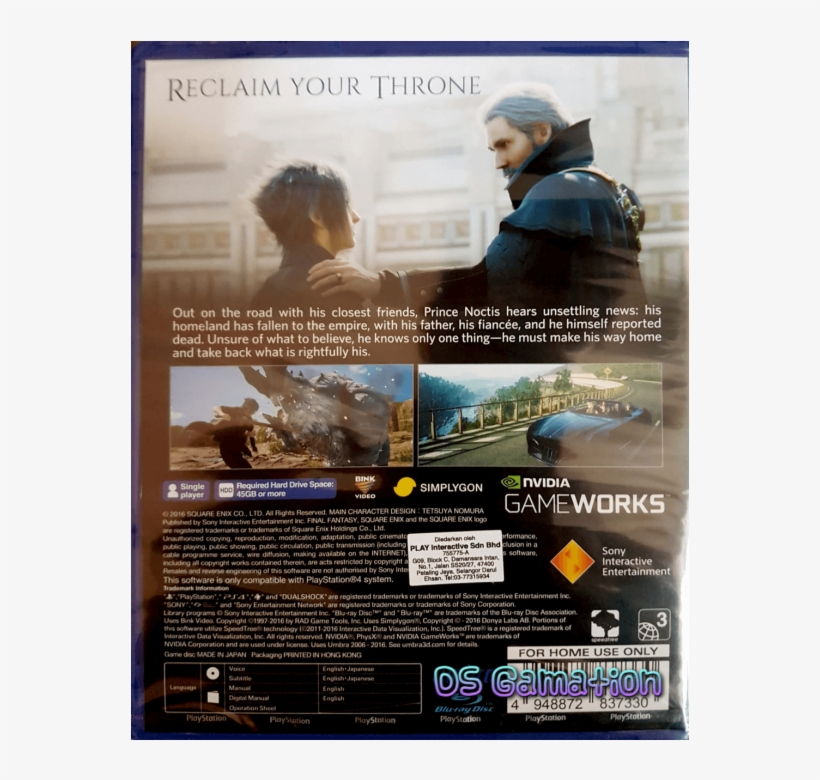 Hot Top Rated Offer - Final Fantasy Xv Day One Edition - Game Console, transparent png #5331464