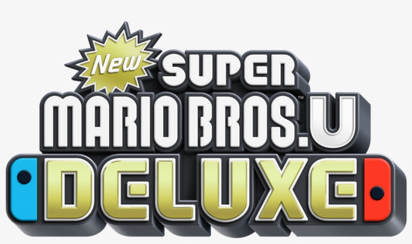 New Super Mario Bros U Deluxe Logo - Super Mario Wii U Deluxe, transparent png #5333478