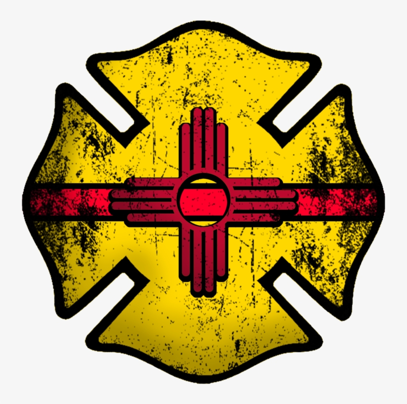 New Mexico Firefighter Decal - Wildland Firefighter Maltese Cross, transparent png #5336190