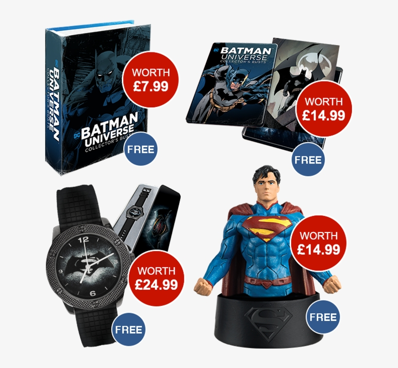 Exclusive Gifts Worth Over £60 - Dc Comics Watch Collection - Batman Vs Superman Watch, transparent png #5347224