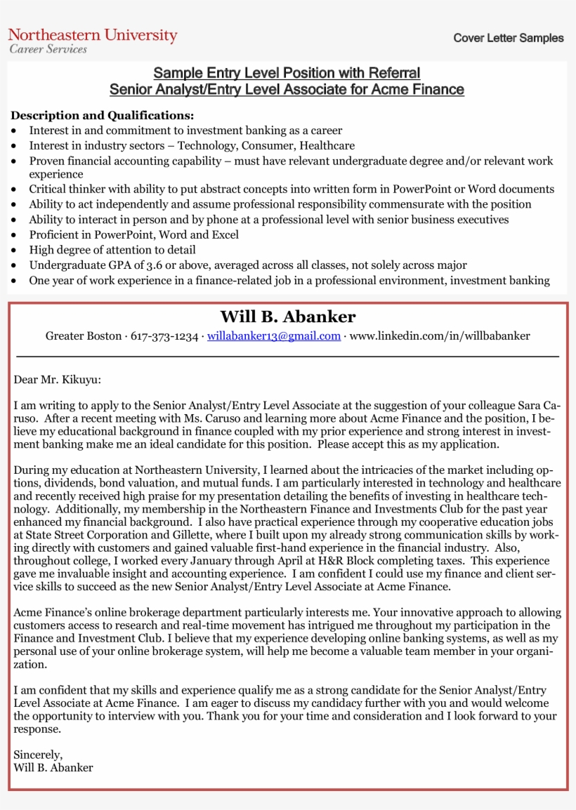 Entry Level Business Analyst Cover Letter Main Image ...