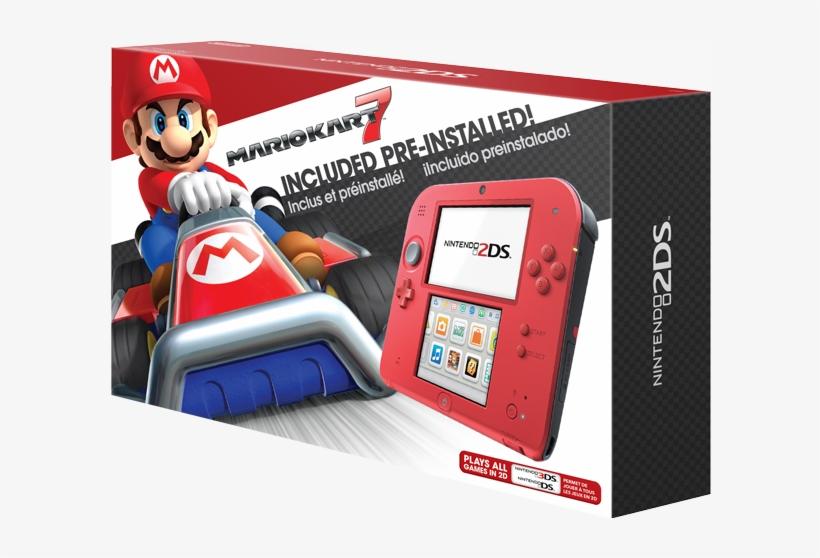 Crimson Red 2 Mario Kart - Nintendo 2ds Electric Blue With Mario Kart 7, transparent png #5351772