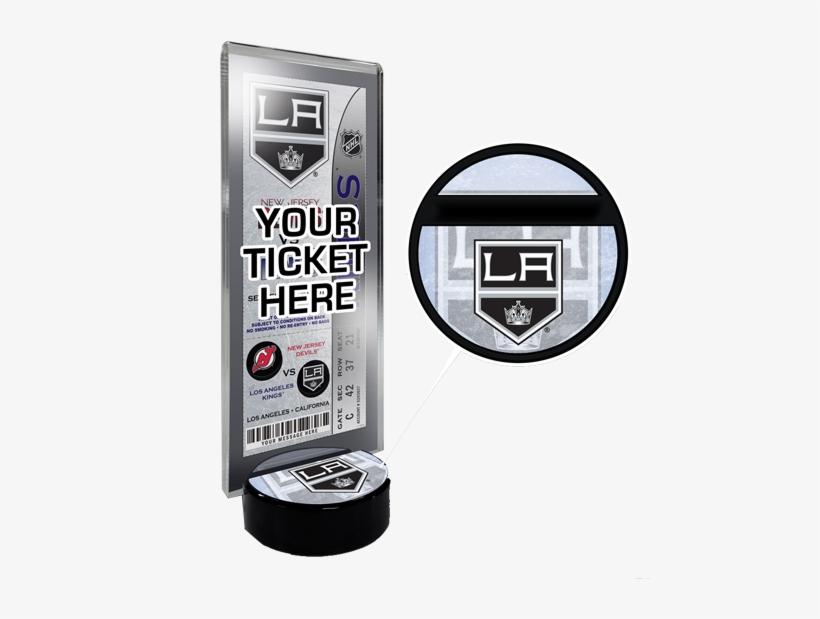 La Kings Hockey Puck Ticket Display Stand - Los Angeles Kings Hockey Puck Ticket Display Stand, transparent png #5354224