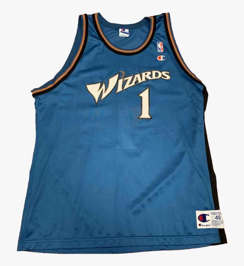Washington Wizards Vintage Champion Jersey Xl - John Wall Wizards Jersey, transparent png #5357434