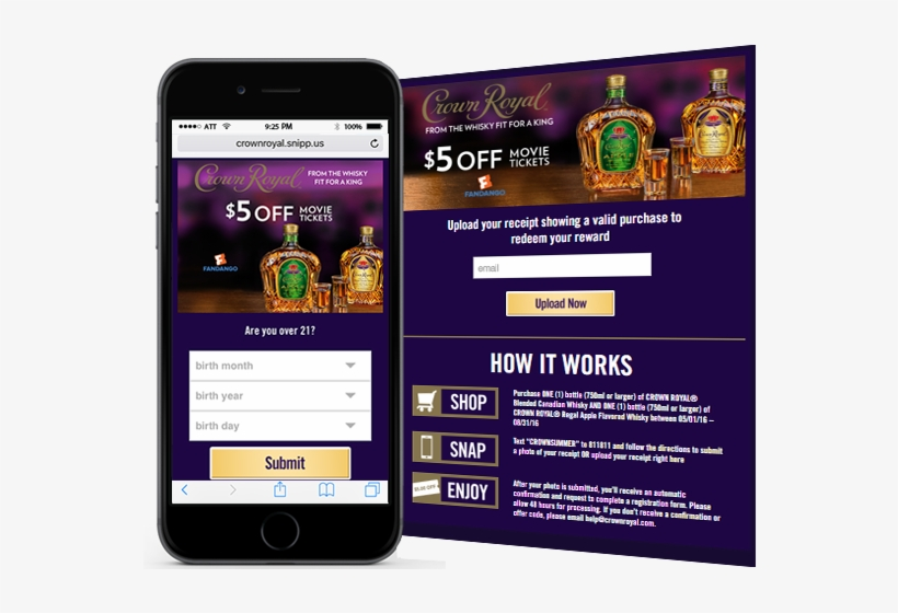 The Crown Royal Company Wanted Consumers To Purchase - Crown Royal, transparent png #5357944