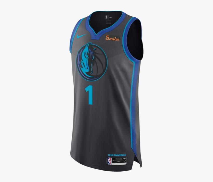 Dallas Mavericks Dsj Nike City Edition 2018-2019 Authentic - Luka Doncic City Edition Jersey, transparent png #5363212