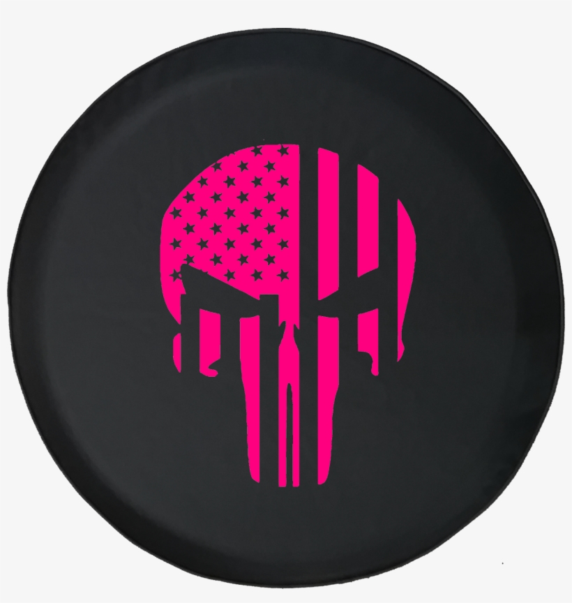 Tire Cover Pro American Flag Vertical Military Punisher - Jeep Wrangler Jk Spare Tire Cover 70th, transparent png #5365691