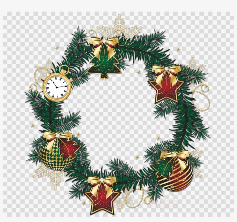 Christmas Ornament Clipart Christmas Ornament Christmas - Christmas Wreath Png Transparent, transparent png #5378171