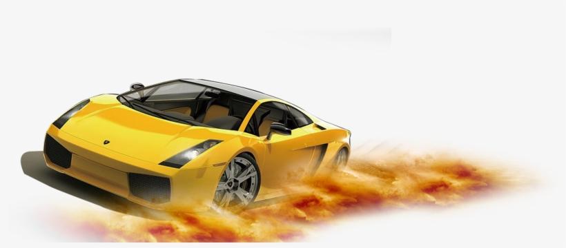 Lamborghini Car Yellow Sports Decoration Gallardo Pattern