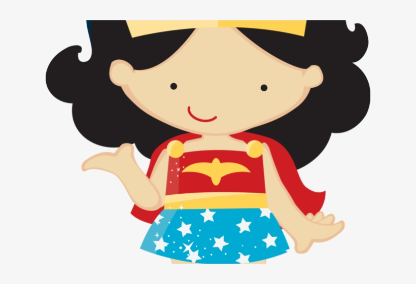 Superman Clipart Toddler - Mulher Maravilha Cute Png, transparent png #5379608