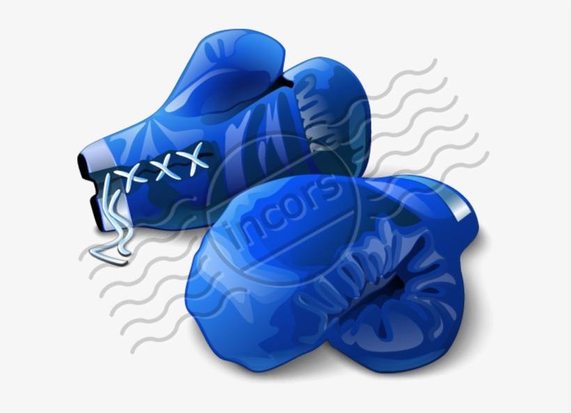 Boxing Gloves Free Images At Clker Com - Boxing Glove Blue Background, transparent png #5382172