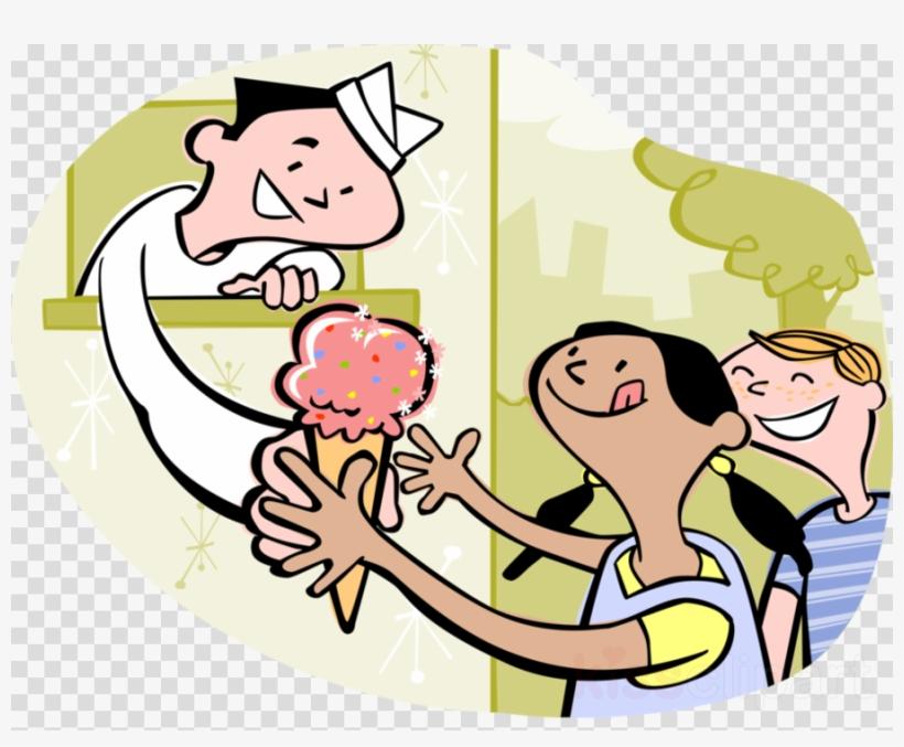 Cartoon Ice Cream Man Clipart Ice Cream Cones Atlanta - Kids Buying Ice Cream, transparent png #5385382