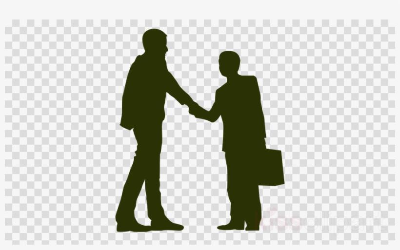 Silhouette Shaking Hands Clipart Handshake Clip Art - Man Shaking Hands Silhouette, transparent png #5389897