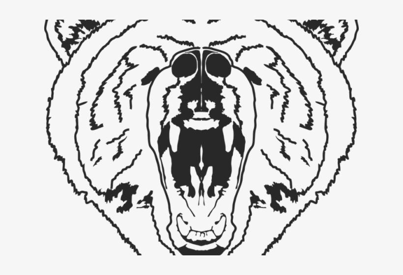 Bear Outline Sketsa Gambar Beruang Marah Free Transparent Png