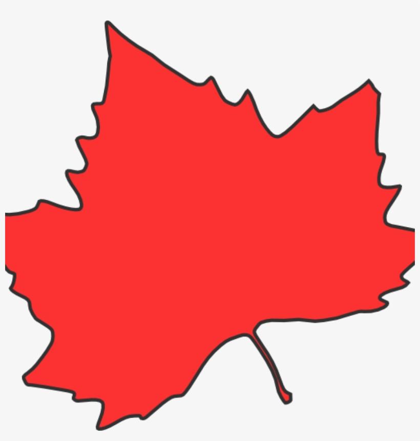 Maple Leaf Clipart Clip Art At Clker Vector Online - Red Fall Leaf Clip Art, transparent png #5392702
