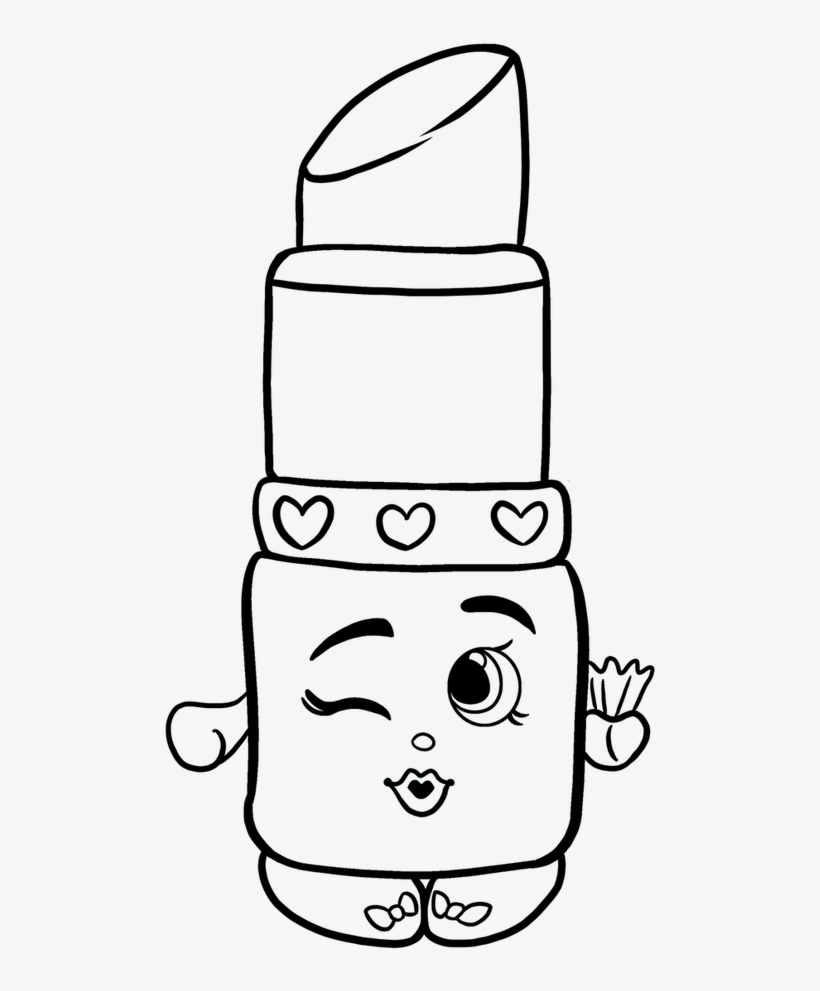 Drawing shopkins easy png black and white stock easy shopkins drawing