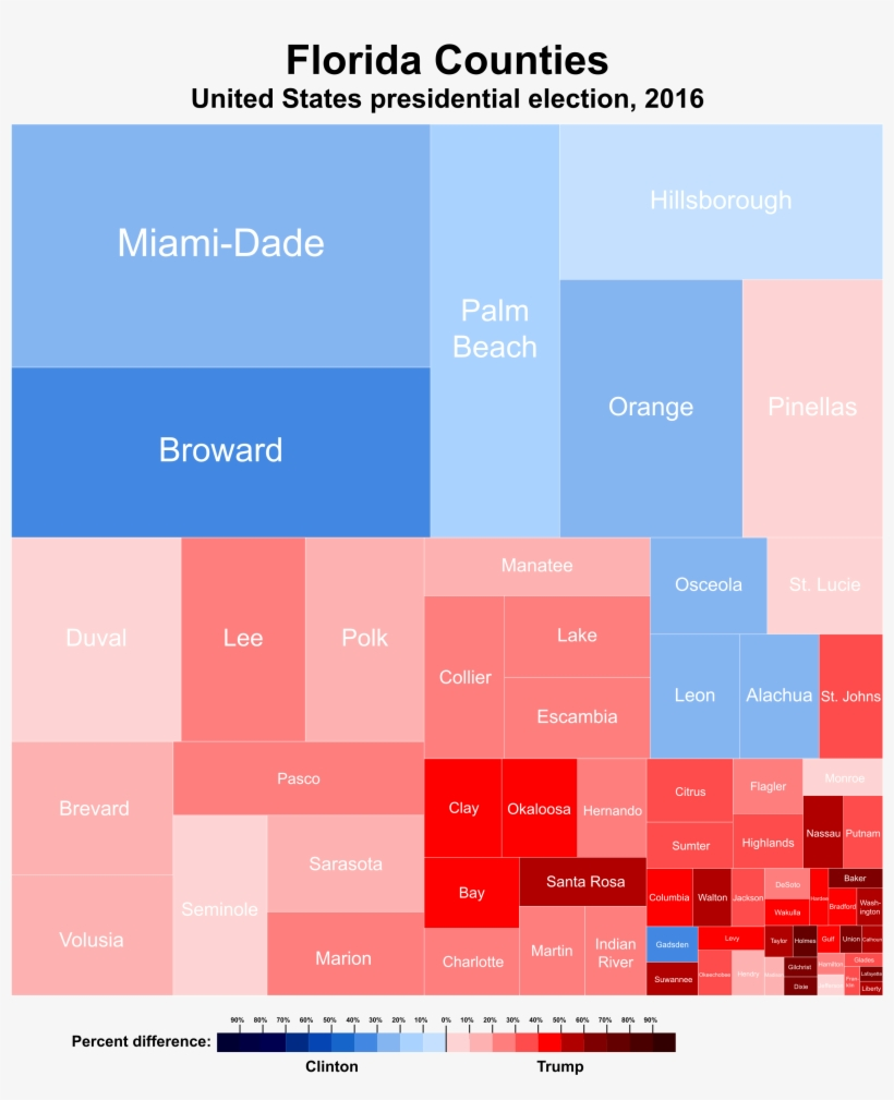 United States Presidential Election In Florida, - United States Presidential Election, 2016, transparent png #5396406