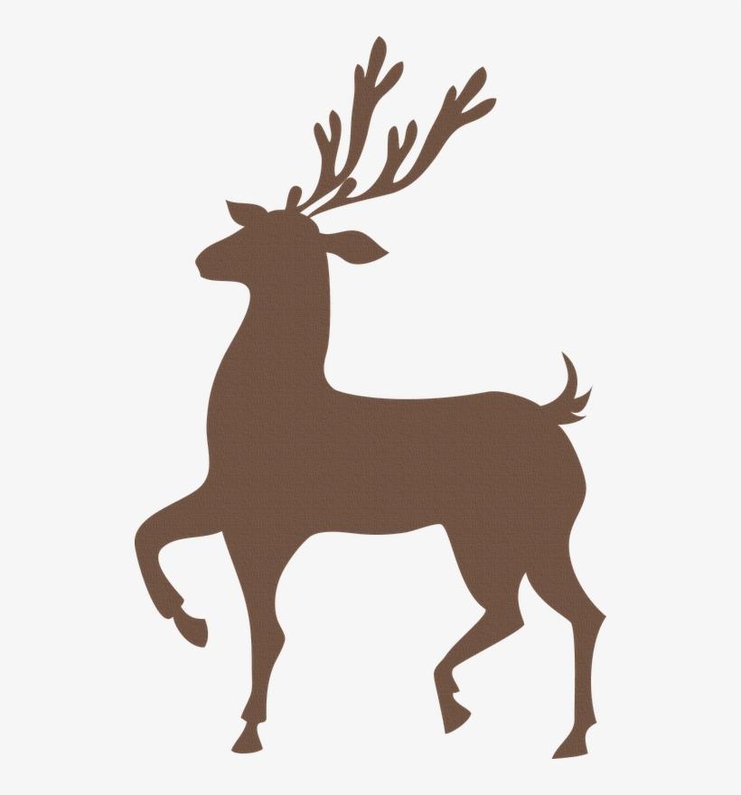 By Pocho Siluetas Pinterest Christmas Winter Snow - Red Reindeer Shower Curtain, transparent png #540573