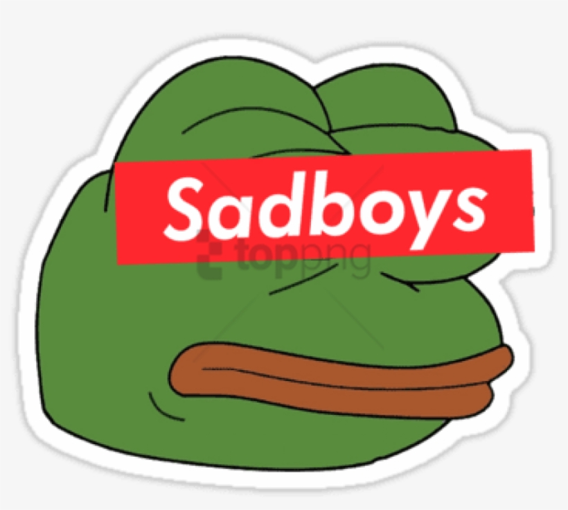"Banner Stock Rare Sadboy Stickers Pinterest - Sad Frog Square Sticker 3"" X 3"", transparent png #541022"