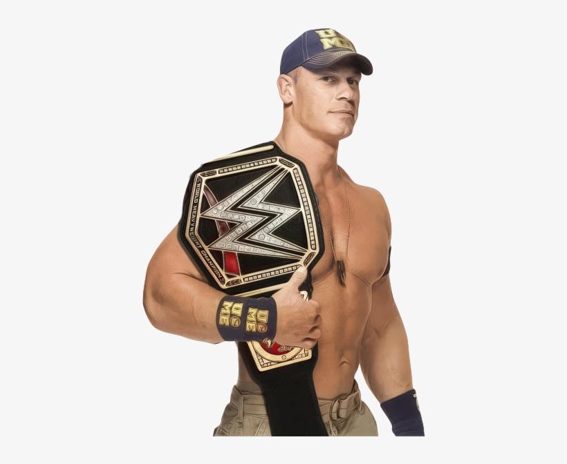When Will John Cena Re-enter The Wwe World Heavyweight - John Cena With Wwe Championship, transparent png #542115