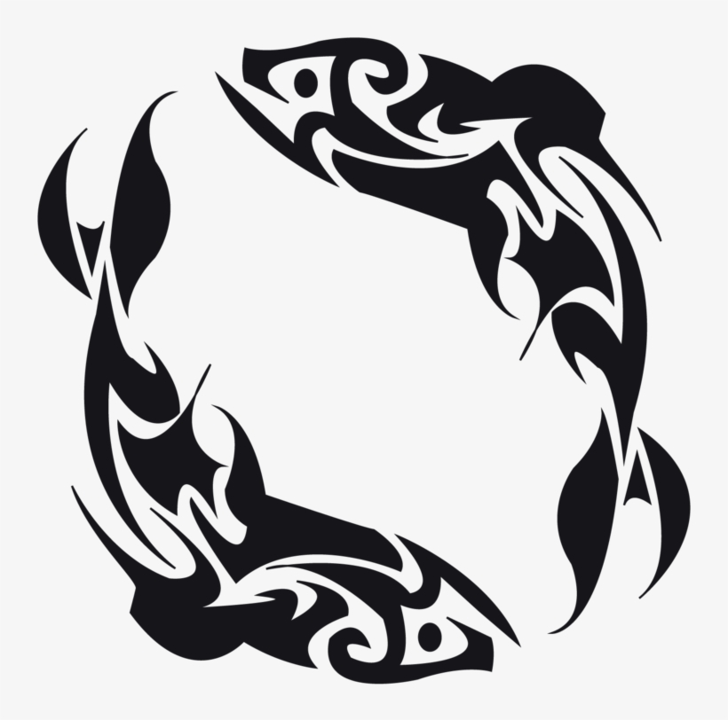 Tribal Tattoos Designs Of Fish - Tribal Fish Tattoo Design, transparent png #542667
