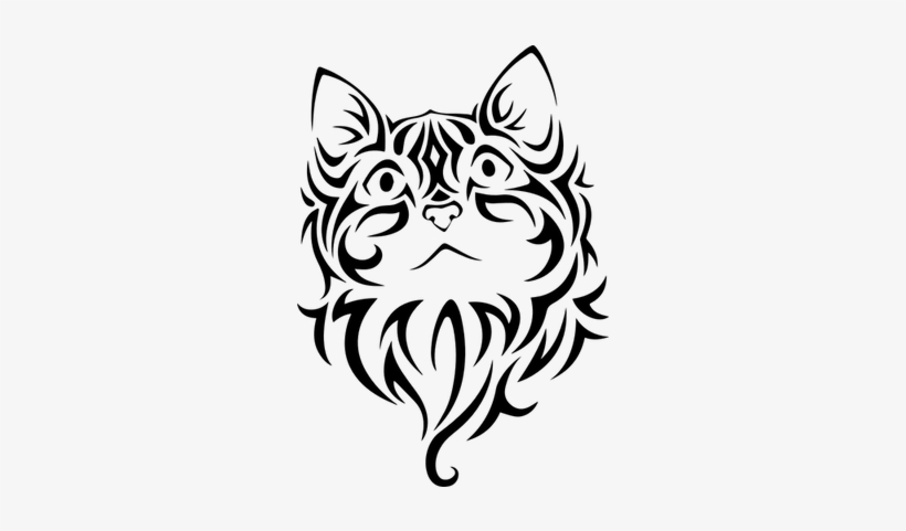 Tribal Cat Tattoo, transparent png #543592