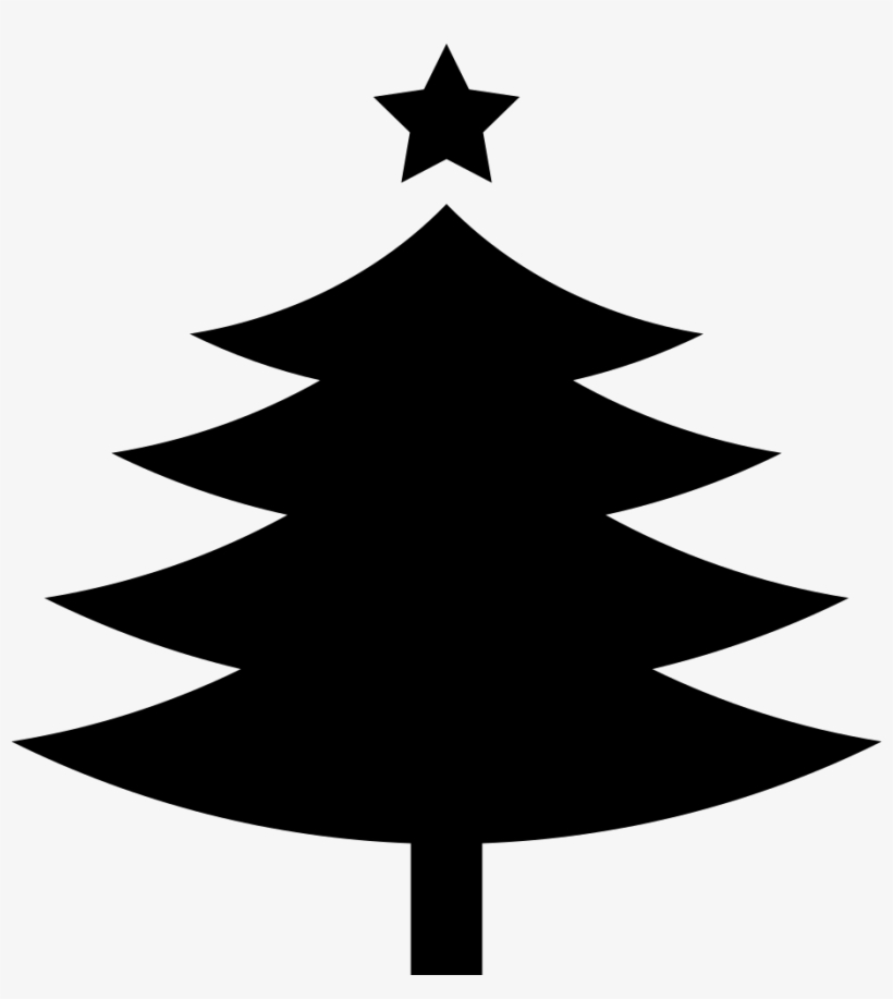 Christmas Tree With A Fivepointed Star On Top Comments - Black Christmas Tree Shape, transparent png #543901