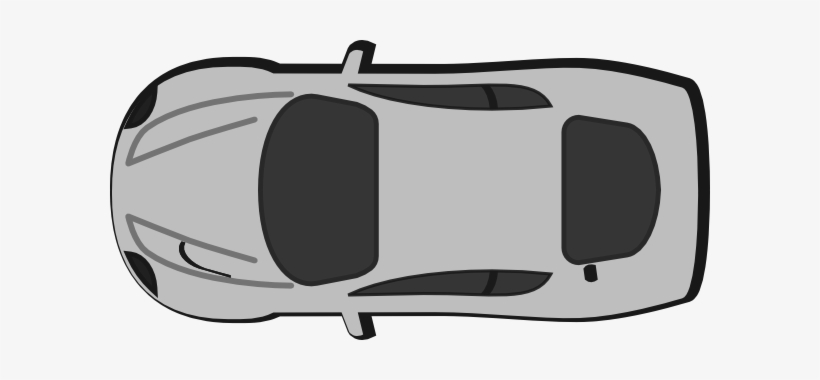 Gray Top View Clip Art At Clker - Outline Of A Car Top View, transparent png #545048