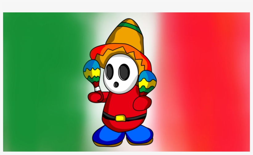Download Mexican Guy With Maracas Clipart Shy Guy Maraca - Mexican Guy With Maracas, transparent png #545156