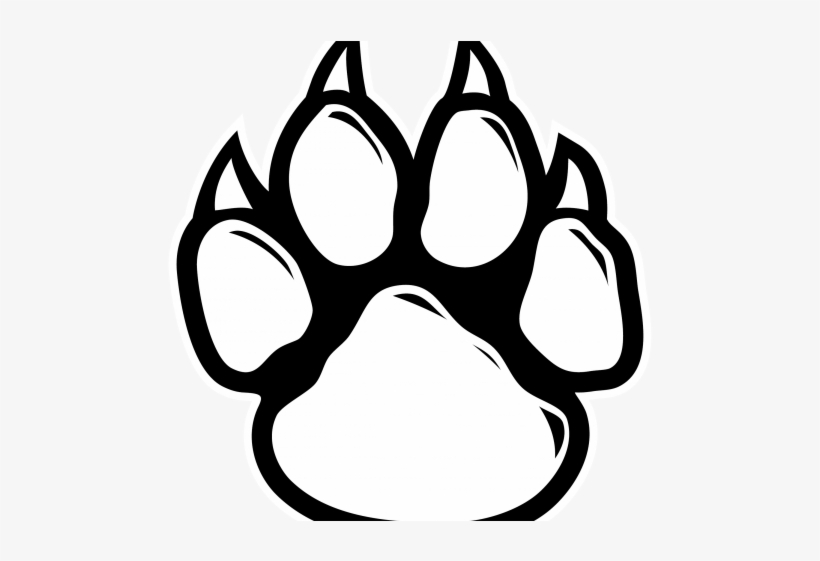 Tiger Paw Outline - Wolf Paw Print Outline - Free