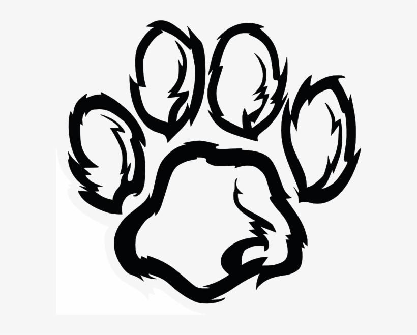 Wildcat Paw Plain Clip Art