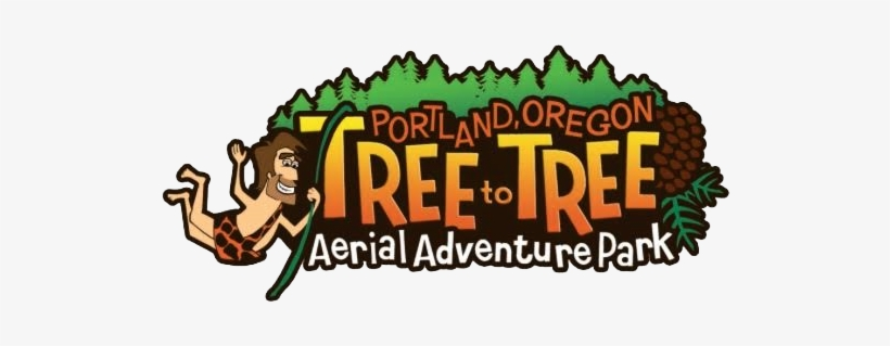 Aerial Adventure Park Serving The Gaston And Portland, - Tree To Tree Adventure Park Logo, transparent png #546036