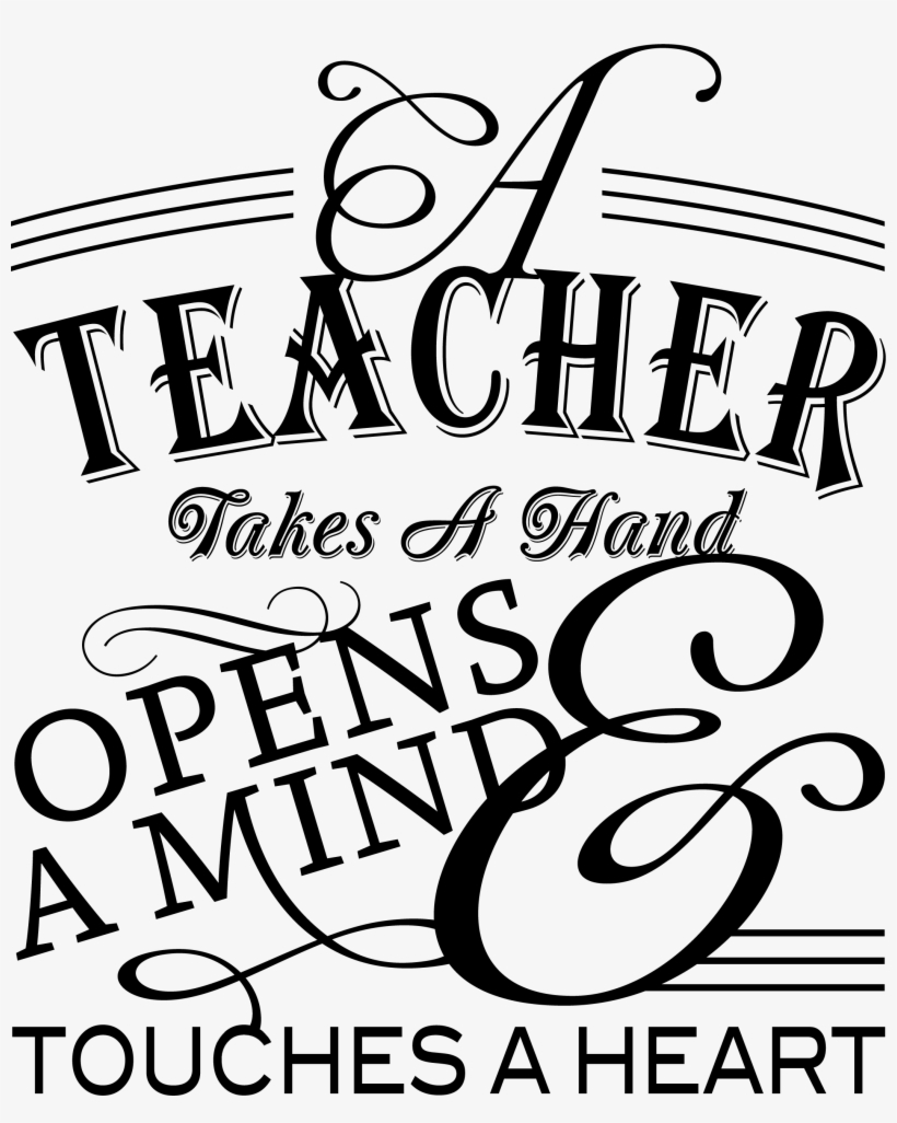 Teacher Quotes Clipart Black And White Master Trick