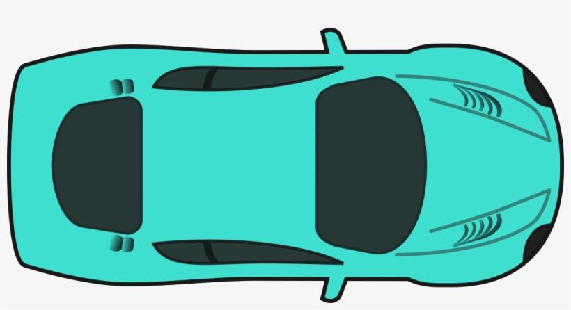 Turquois Racing Car - Race Car Top Down Clip Art, transparent png #546646