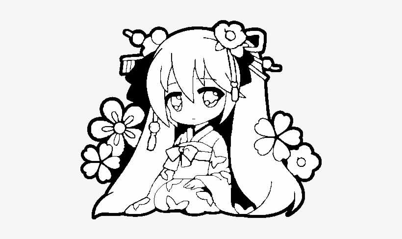 Collection Hatsune Miku Chibi Coloring Pages Pictures