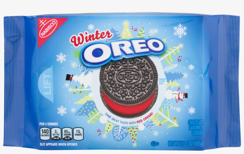 Nabisco Oreo Winter Chocolate Sandwich Cookies - Oreo Winter Cookie, 15.35 Oz, transparent png #547692
