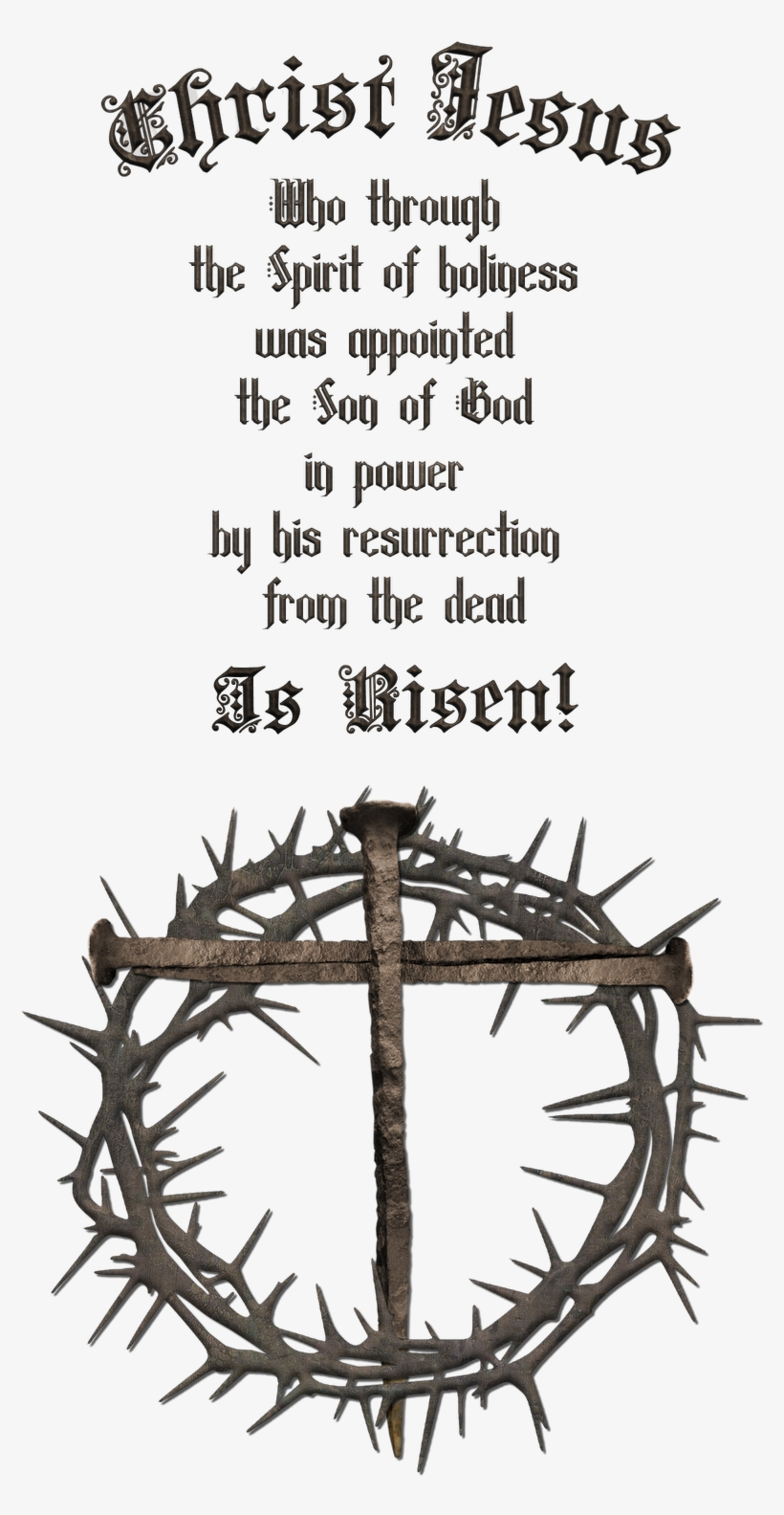 Nail Cross With Crown Clipart - Crown Of Thorns And Cross, transparent png #548031