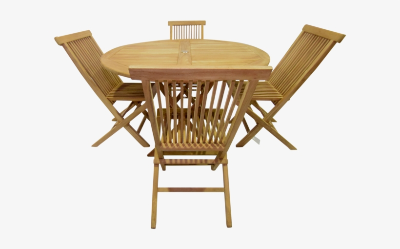 Al Fresco Round Folding 120cm Table Set - Outdoor Table, transparent png #549832