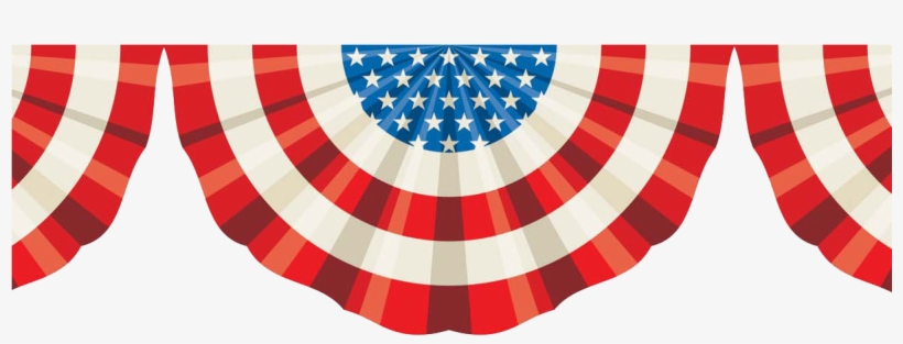 Presidents' Day Sale - American Flag Bunting Banner, transparent png #549989