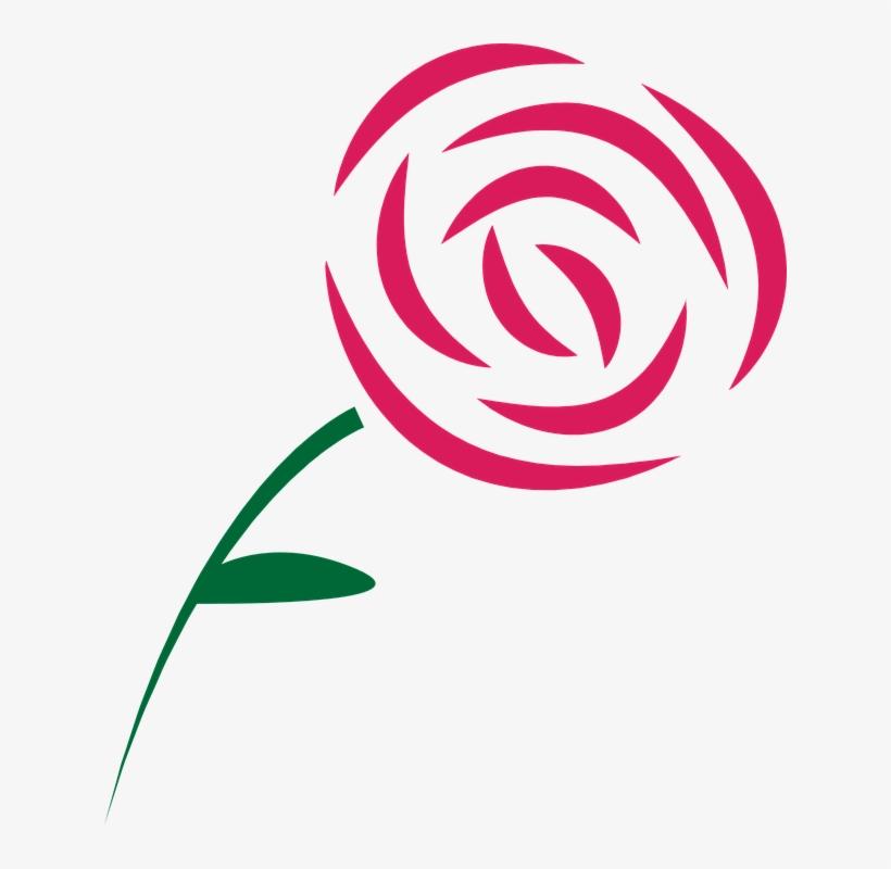 Vectores Rosas Png Simple Rose Free Transparent Png Download