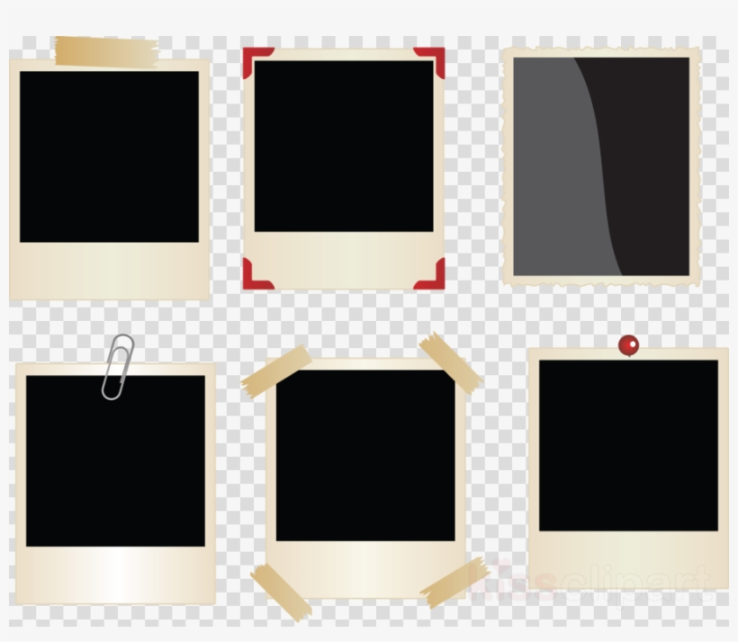 Polaroid Frames Png Clipart Picture Frames Instant - Black Balloon Vector Free, transparent png #5408184
