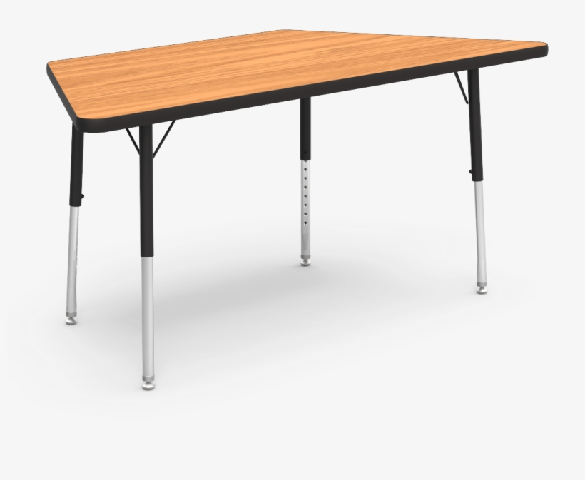"""30"""" X 60"""" Trapezoid Table, Activity Tables, Classroom - Writing Desk, transparent png #5419677"""
