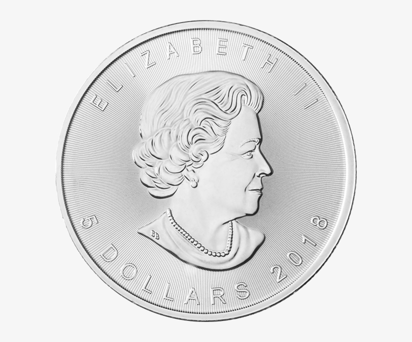 1 Oz Silver 2018 Maple Leaf Coin - Coin, transparent png #5421231
