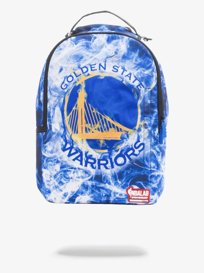 Sprayground- Nbalab Golden State Smoke Backpack - Golden State Warriors Sprayground Backpack, transparent png #5425044