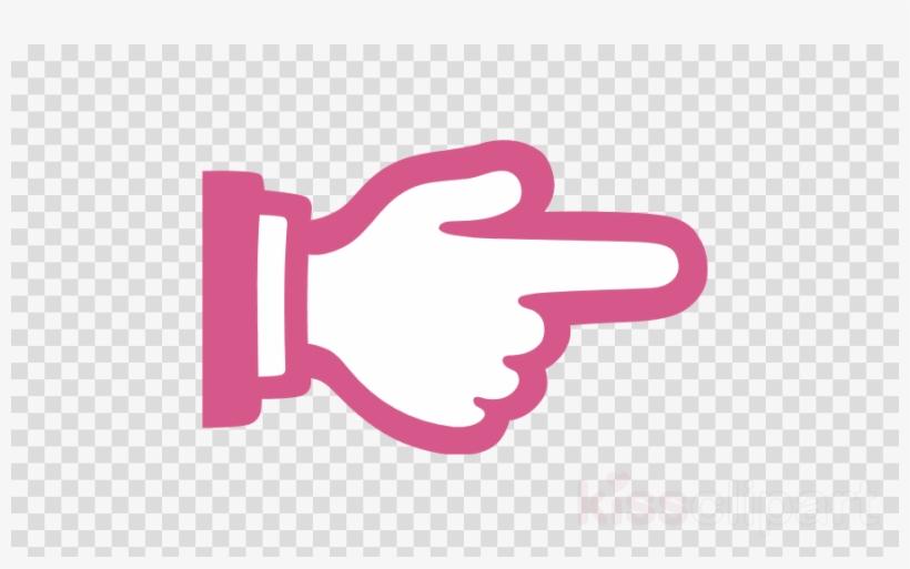 Finger Pointing Right Emoji Clipart Index Finger Emoji - Transparent Background Icon Social Media, transparent png #5425988